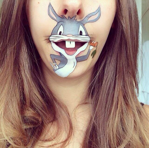bouche-maquillee-bugs-bunny