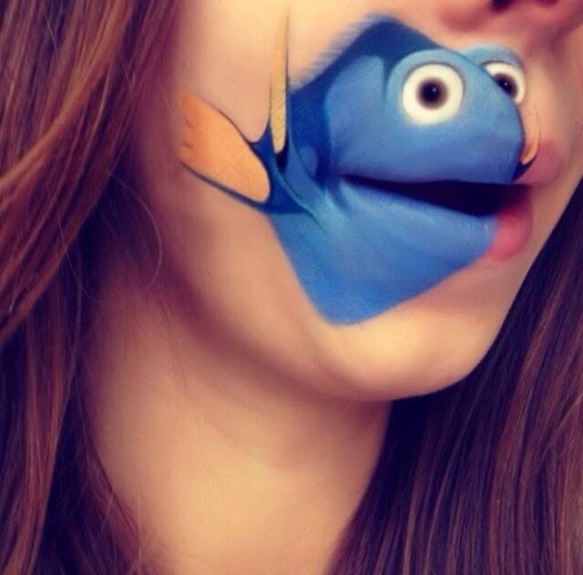 maquillage-bouche-poisson-nemo
