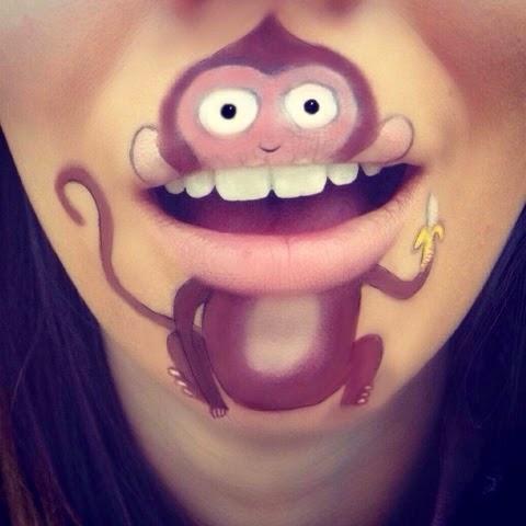 maquillage-bouche-singe