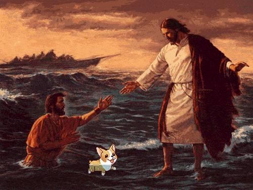 chien-nage-entre-homme-jesus