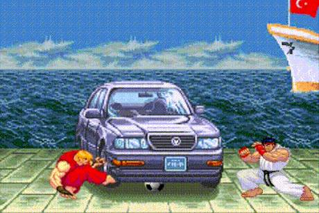 ryu-ken-ballon-sous-voiture-street-fighter