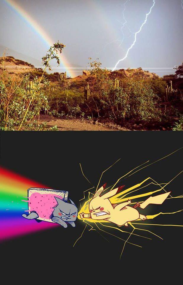 nyan-cat-vs-pikachu