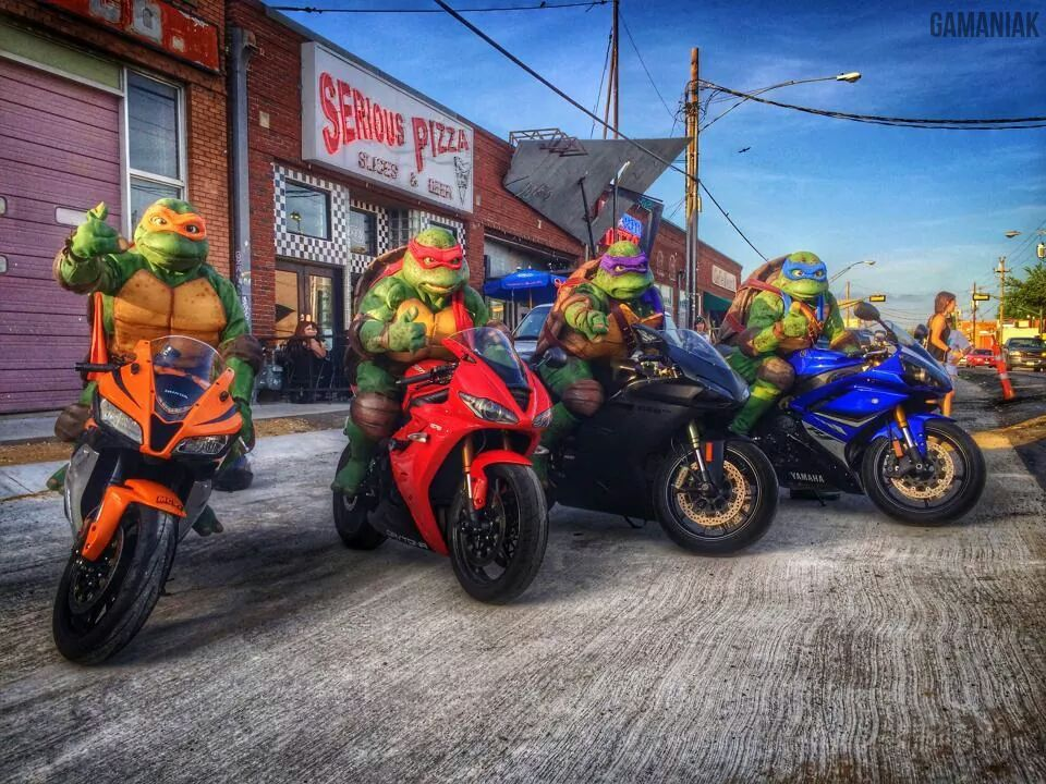 les tortues ninja moto