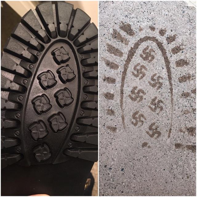 chaussure-empreinte-croix-gammee