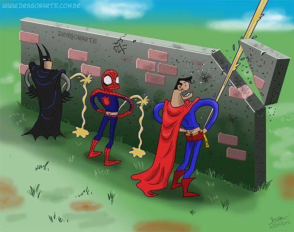 concours-pipi-batman-spiderman-superman