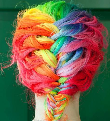 cheveux-arc-ciel