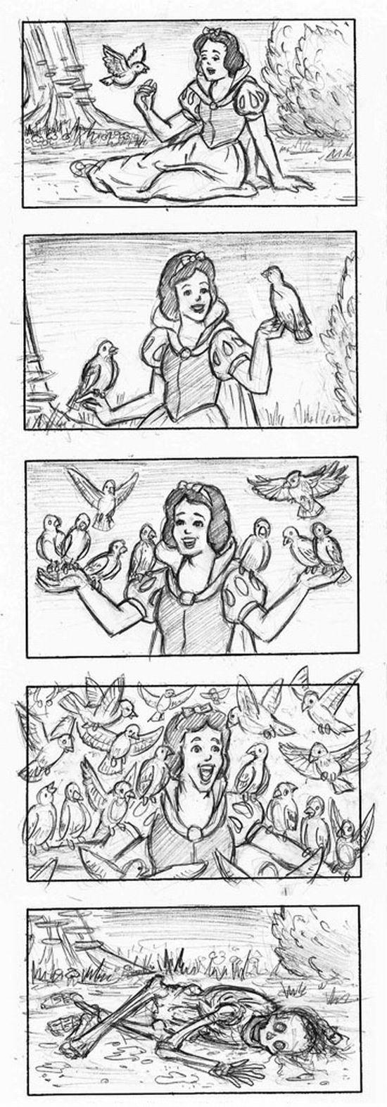 blanche-neige-oiseaux-morte