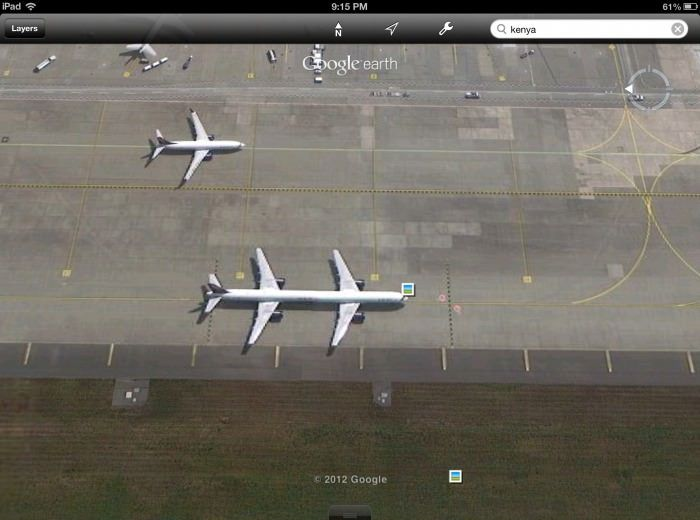 avion-tandem-sur-google-maps