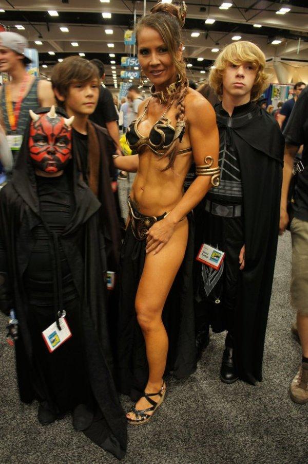 cosplay-princesse-leia-gamins