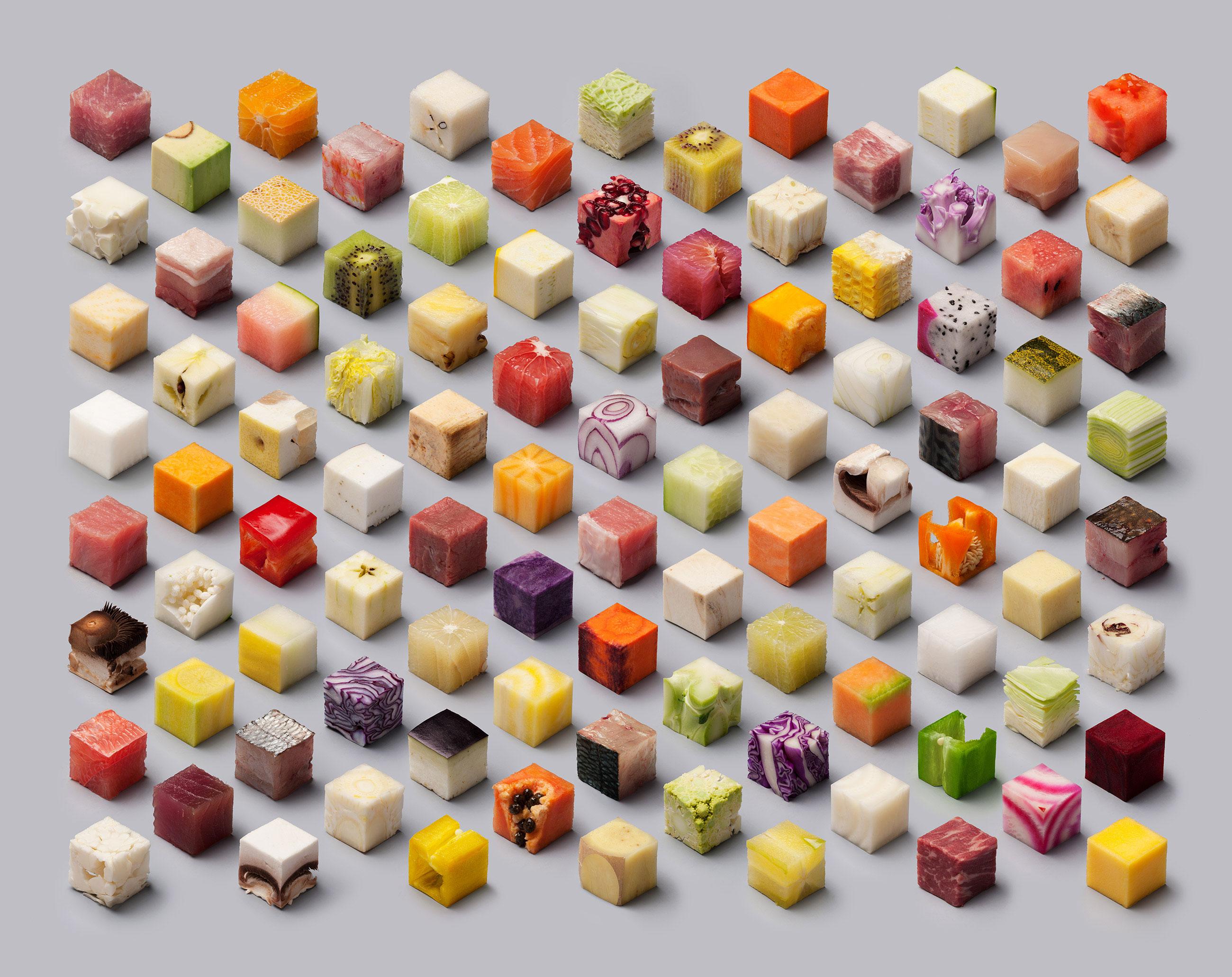 Image Cubes de nourriture