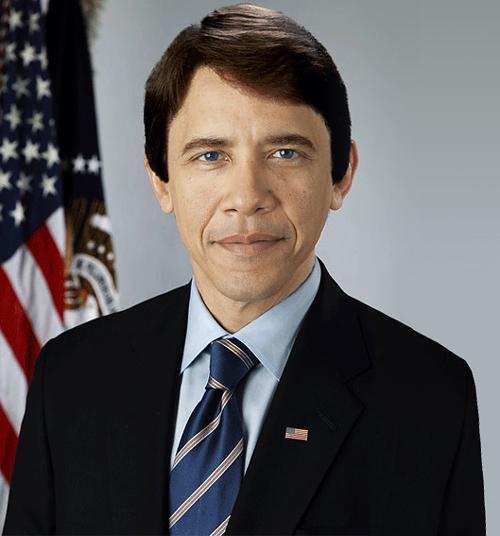 image Barack Obama en Blanc