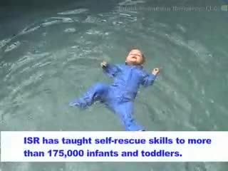 Un b b qui apprend nager dans une piscine - Nager dans une piscine ...